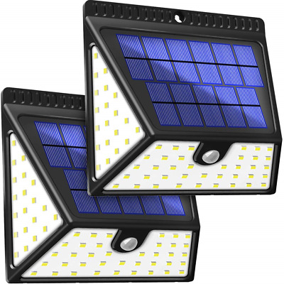BAXiA Upgraded Solar Lights Motion Sensor, 1640LM Solar Security Lights with for