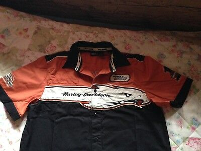 Cool!! Harley Davidson Screamin Eagle Hemd Shirt Polo Jacke - Neuw. Top!