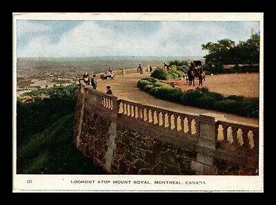 Dr Jim Stamps Mount Royal Lookout Montreal Canada Postcard 1948