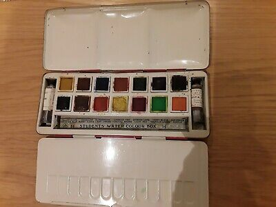 Vintage Page London students water colour box paint set