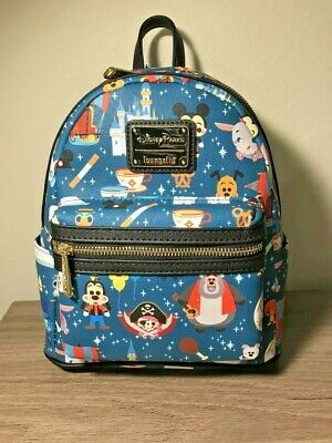 Authentic Disney Parks Loungefly Characters Attractions and Snacks Mini Backpack