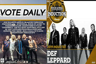Def Leppard 2019 Rock and Roll Hall of Fame DVD