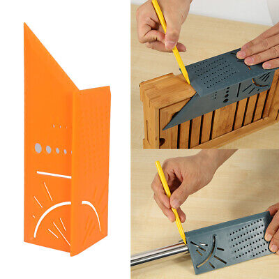 3D Rule Square Layout Miter 45° 90° Metric Rule Orange Q9O1