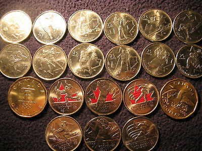 Most Upto Date Vancouver 2010 Olympics 20 Coins Set Unc.
