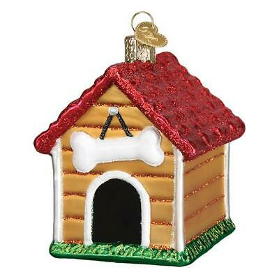"""Dog House"" (20113)X Old World Christmas Glass Ornament w/ OWC Box"