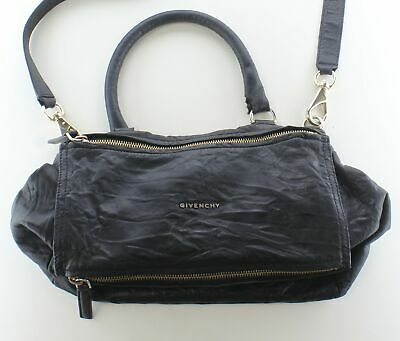 aafa8065c8 3C87 GIVENCHY PANDORA Medium Leather Satchel Bag In Black - $273.78 ...