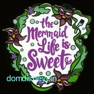 Disney Pin Disney *Parks* Princess Quotes - The Mermaid Life is Sweet (Ariel)!