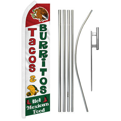 Menudo Advertising Swooper Flutter Feather Flag Kit Mexican Food Restaurant