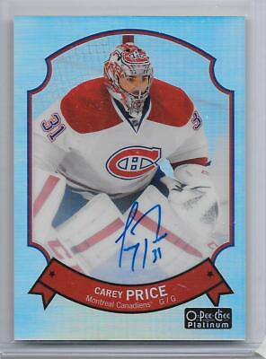 14-15 O-Pee-Chee Platinum Retro Rainbow Autograph #28 Carey Price Auto Canadiens