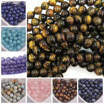 Wholesale Natural Stones Charm Gemstone Round Spacer Loose Beads 4MM 6MM 8MM