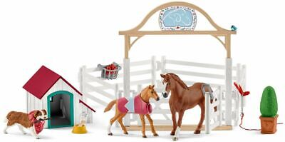 Schleich 42458 Hannah's Guest Horses with Ruby the Dog Toy Figurines 2019 - NIP