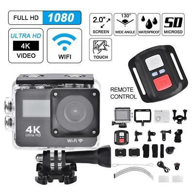 4K FHD 1080P Dual Touch Screen Sport Camera WiFi Action Camcorder with Remote