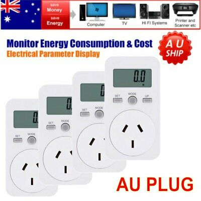 AU Plug 240V Power Meter Monitor Energy Consumption Watt Electricity Use Tester