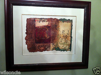 Original Oil Painting by Artist Michel Dupont Handmade Chiffon Paper / Framed