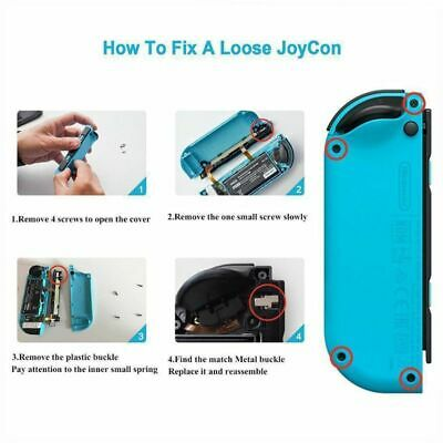 1Pair Lock Buckle Left Right Metal JoyCon Part for Nintendo Switch NS Controller