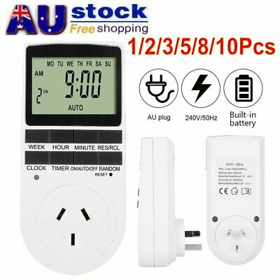 240V LCD Digital Timer Switch Automation Socket Electric Programmable Power AU