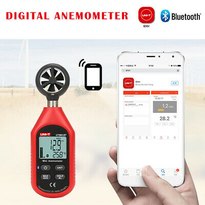 2in1 UNI-T UT363BT Digital LCD Anemometer Air Wind Speed & Thermometer Bluetooth