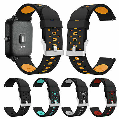 Replacement Silicone Smartwatch Bands Bracelet Strap for Amazfit Youth Version