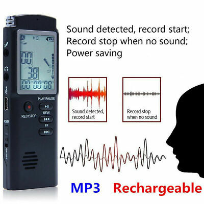 LCD Mini Spy Audio Recorder Voice Activated Listening Device 400Hours 32GB