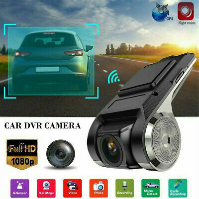 Dashcam Autokamera GPS Video Recorder Full HD 1080P Kamera 170° Weitwinkel