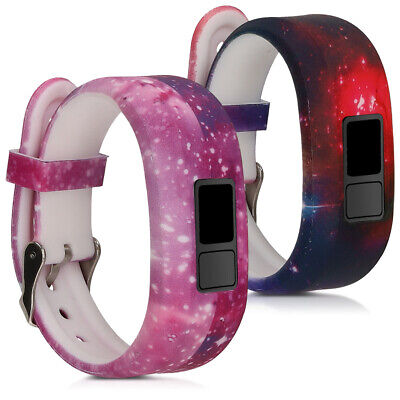 2 Straps for Garmin Vivofit jr. jr. 2 Multicolor Dark Pink Black