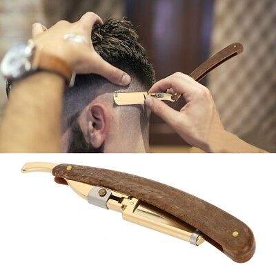 Salon Straight Edge Razor Barber Folding Stainless Steel Shaving Hair Tool KL