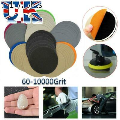 125mm Wet and Dry Sanding Discs 5in Abrasive Pads Hook and Loop Sandpaper