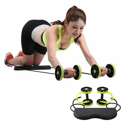 Power Roll AB Trainer Waist Slimming Exercise Core Double Wheel Fitness Trainer