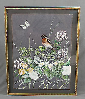 Jean Andrews Ornithological Bird Painting Stonechat