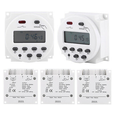 CN101A 24V-220V Digital LCD Weekly Programmable Power Timer Time Relay Switch