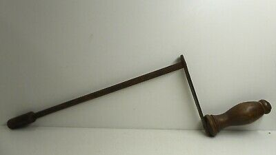 Antique Crank Handle Table Winder Wooden Handle Metal Rod