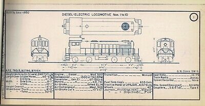 great northern diesel locomotive diagrams free shipping