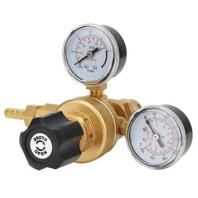 CO2 Gas Regulator Carbon Dioxide Welding Pressure Reducer Dual Gauge G5/8