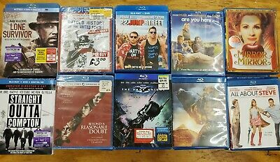 Lot of [100] Blu-ray movies: New & Used; Action; Adventure, Comedy