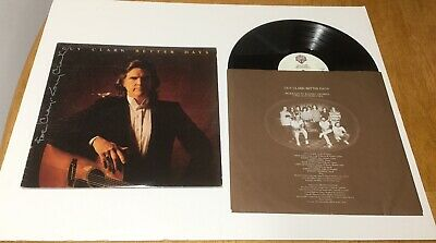 "Guy Clark Autographed  Record Album Cover ""Better Days"" Signed With Record Lp"