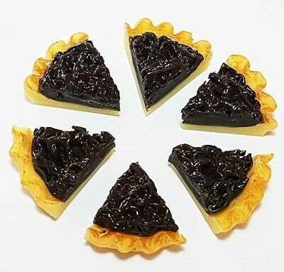 6 Dollhouse Miniature Cake Slices * Doll Mini Food Tart Pie Set Bakery Dessert