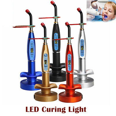 Dental LED Cure Lamp Wireless Cordless 5W 2000mW Curing Light Lamp Tools EU Plug