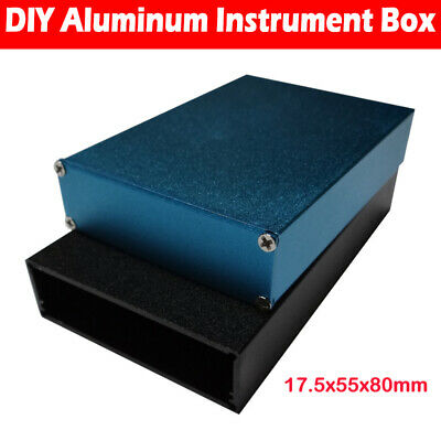 Aluminum Instrument Case Project Box Enclosure Case Electronic DIY 17.5*55*80mm