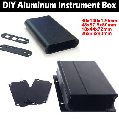 Electronic DIY Extruded Enclosure Box PCB Instrument Case Aluminum Metal Shell