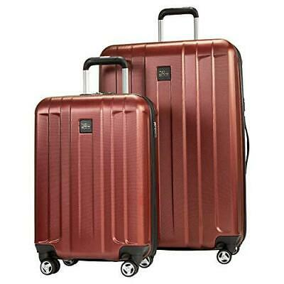 Skyway Whittier 2- Piece Spinner Hardside Travel Suitcase Luggage Set, Red NEW!!