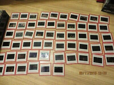 Lot of 100 Random Vintage 35mm Color Slides Kodak Red Border 1950-60 4 Cases
