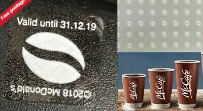 Mcdonald Coffee Uv 600 Loyalty White Stickers – 100 Cups Exp 31-12-19