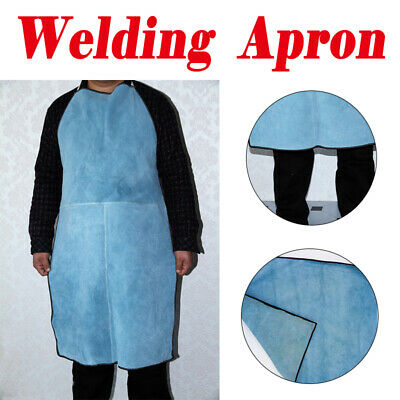 Welders Welding Apron Full Length Leather Blacksmiths Glaziers Apron Bib 60x95cm