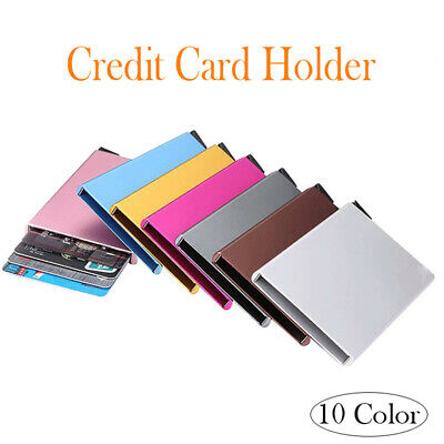 Universal Pocket Business Name Credit ID Card Holder Aluminum Box Cover Case