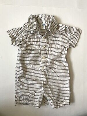 a4cb8a34e Old Navy Baby Boy Striped Romper Shortalls One Piece Outfit 3-6 Months