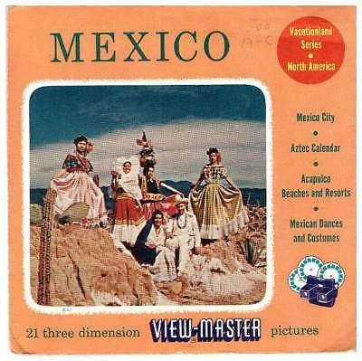 3 VIEW-MASTER 3D Reels📽️MEXICO 500A/B/C Vacationland Series NorthAmerica/Mexiko