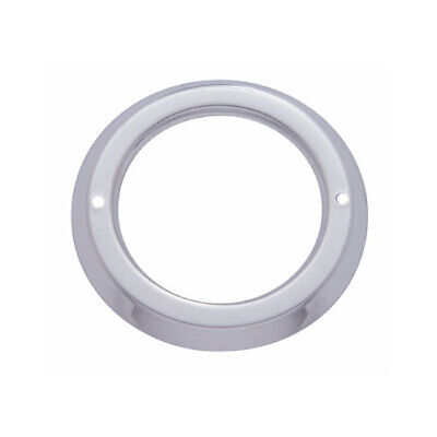 """(10) Round Stainless Steel Bezels / Covers 2"""" LED Side Marker Clearance Lights"""