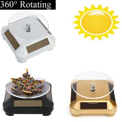 360° Rotating Turntable Jewelry Display Stand - Solar or AAA Battery Powered