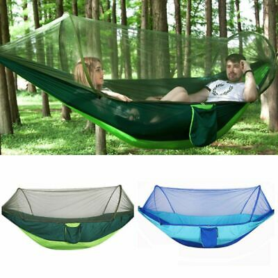 Portable Hanging Hammock Sleeping Bed Camping Swing Net Parachute Outdoor