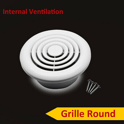 "Internal Ventilation Grille Round White 4"" 100mm Duct Extractor fan Bathroom New"
